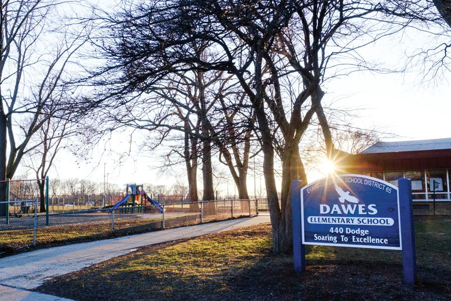 Dawes Elementary, 440 Dodge Avenue, is one of ten elementary schools in Evanston/Skokie School District 65. A report released last month showed some progress, but consistent racial disparities, in the district.