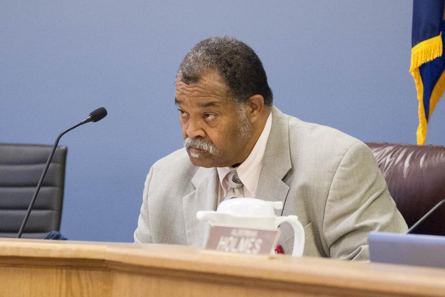 City Clerk Rodney Greene attends a council meeting. Greene is running for reelection to the clerk's office.