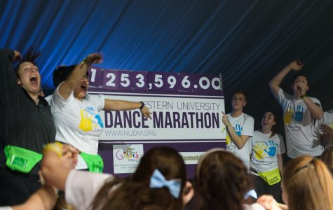 Students reveal the final total for Dance Marathon 2017: $1,253,596. The total is just over last year's, which was $1,201,216.
