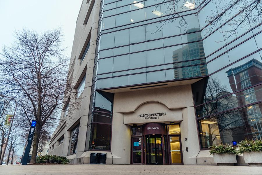 The Center for Public Safety at 1801 Maple Ave. Timothy Schoolmaster, a former employee at the Center for Public Safety, is suing Northwestern for his alleged termination following a complaint regarding his pay.