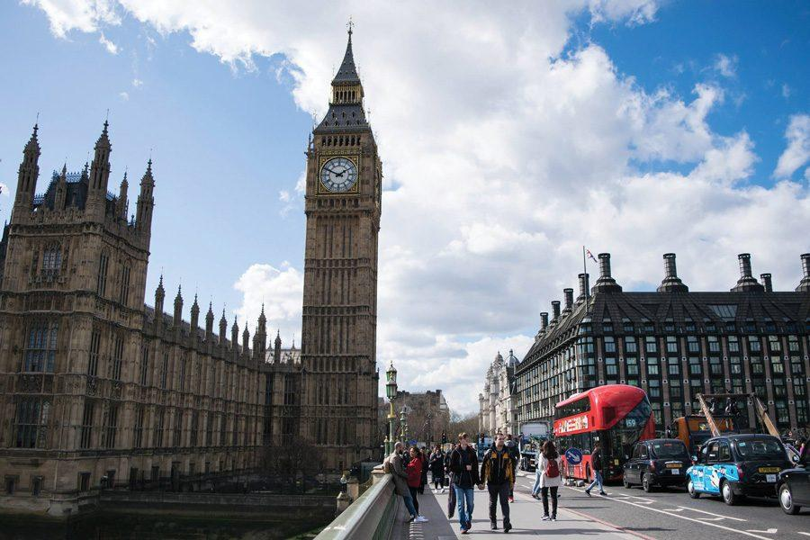 The Palace of Westminster in London.    All Northwestern students in London during spring break were confirmed safe after an attack Wednesday left five dead.