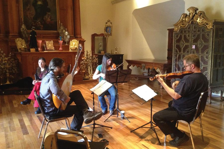 The Newberry Consort rehearses for their upcoming show, which will play music that celebrates Queen Christina of Sweden. They said they chose to focus on Queen Christina because of her reputation for breaking societal norms.