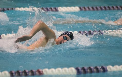 Jordan Wilimovsky takes a stroke. The senior closed his NCAA career with a fourth place finish in the 1,650-yard freestyle.