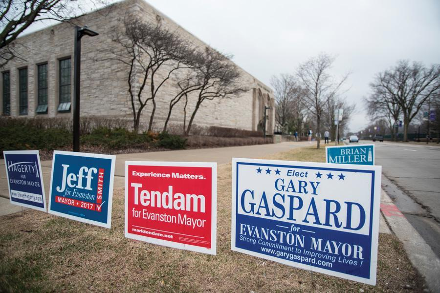 Northwestern hosted voting locations on its Evanston campus for the Evanston mayoral primary vote. Steve Hagerty and Mark Tendam were elected to continue in the general election.