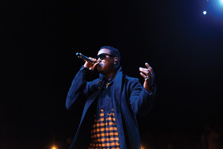Jeremih performs at A&O Ball, which was co-hosted by FMO. The hip-hop artist headlined and rapper Aminé opened the annual concert, held at Chicago's Riviera Theatre.