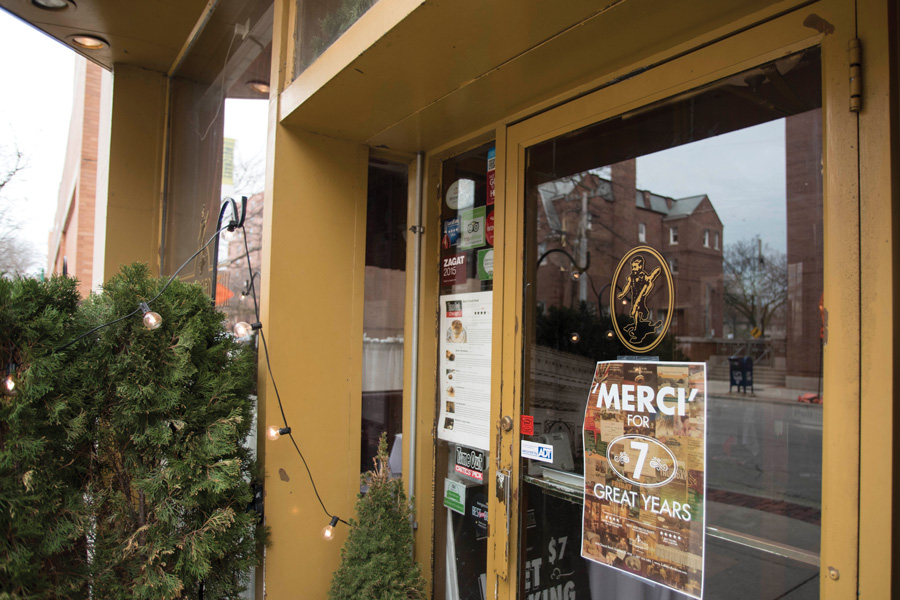 Bistro Bordeaux, 618 Church St. On Sunday, the restaurant will close after seven years of bringing French culture and cuisine to downtown Evanston.