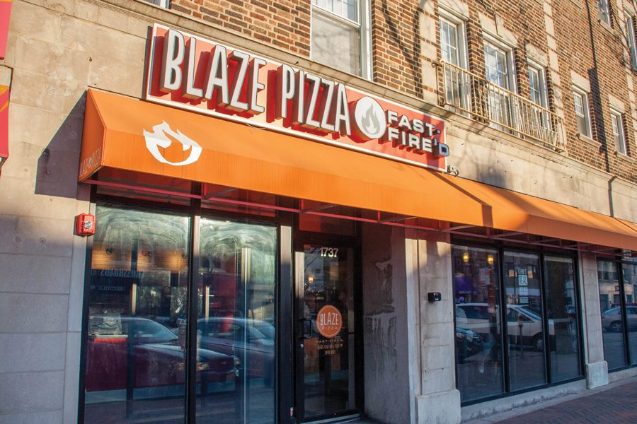 Blaze+Pizza%2C+1737+Sherman+Ave.+Blaze+co-founder+Elise+Wetzel+%28Weinberg+%E2%80%9987%2C+Kellogg+%E2%80%9992%29+said+she+thought+of+the+concept+while+eating+at+a+Chipotle+in+Pasadena%2C+California.