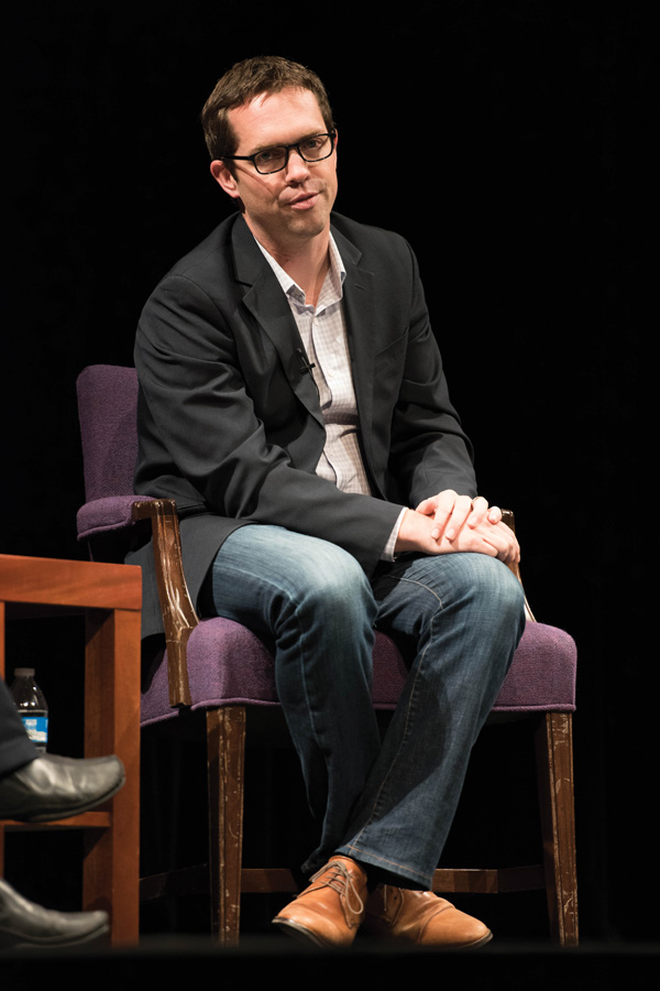 Jeremy Bird speaks at a panel in Cahn Auditorium in 2015. State Sen. Daniel Biss (D-Evanston) announced Thursday that Bird's organization, 270 Strategies, would help with his gubernatorial campaign.