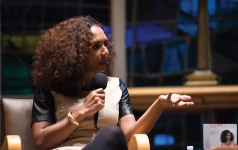 Transgender rights activist Janet Mock discusses identity, safe spaces