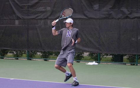 Men's Tennis: Northwestern splits competitive road matches