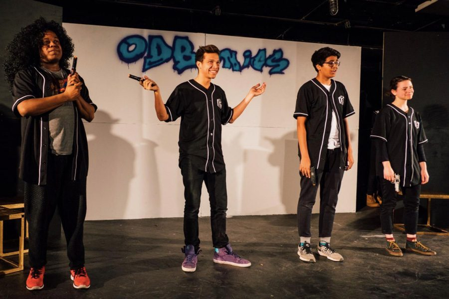 Northwestern Improv group Out Da Box performs in their 2016 spring show, ODBonics. The group recently performed in the Chicago Improv Festival.