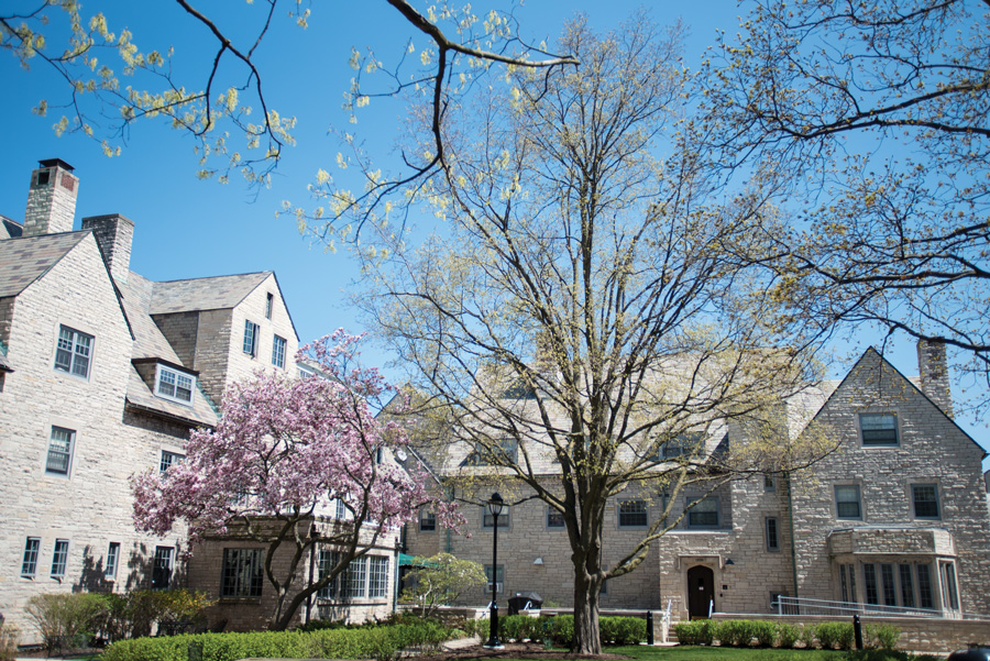 The sorority quad at Northwestern University. Executive director of residential services Jennifer Luttig-Komrosky said a majority of Norovirus cases have been reported in fraternity and sorority housing.