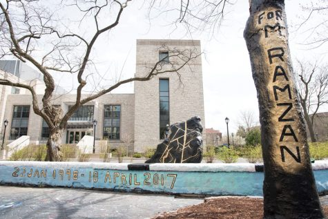 Students paint The Rock to commemorate Mohammed Ramzan