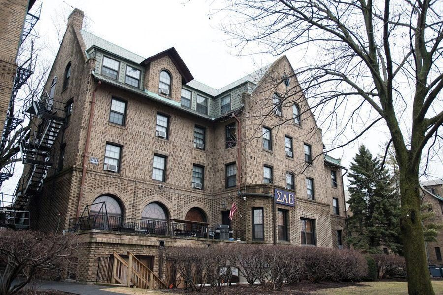 Sigma Alpha Epsilon fraternity's house on Northwestern's campus. The University suspended the chapter from campus Friday after concluding SAE had violated a disciplinary probation.