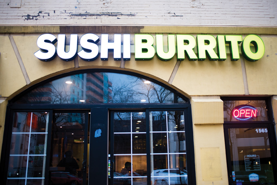 Sushi Burrito, 1565 Sherman Ave. Sushi Burrito opened its fourth Chicago area location in downtown Evanston on Thursday.