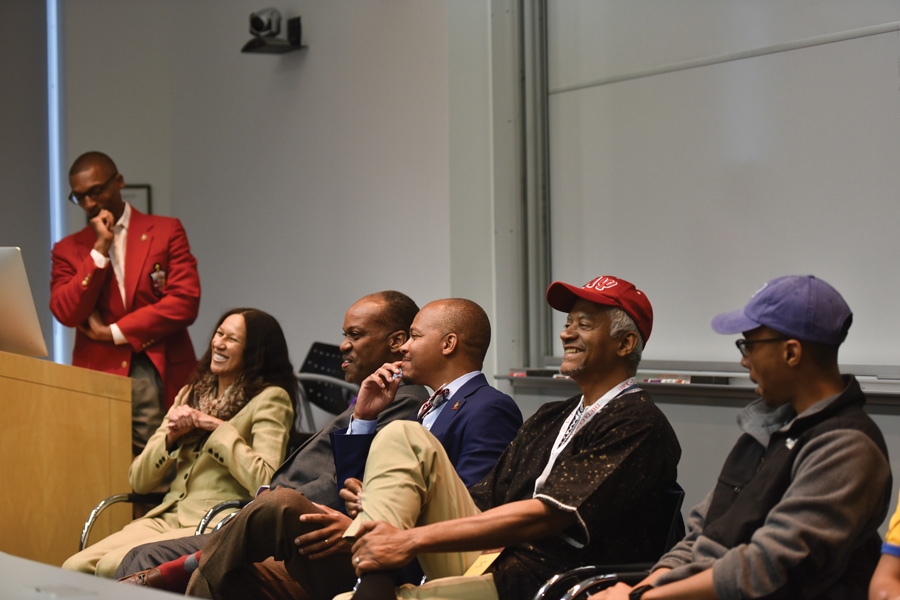 Panel members talk about the current state of black Greek life on campus and its relevancy. The talk kicks off a series of events held to celebrate the 100th anniversary of Northwestern's Kappa Alpha Psi, which is the oldest historically black fraternity on campus.