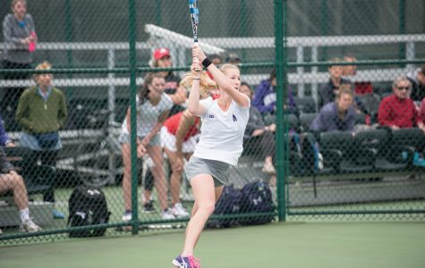 Maddie Lipp follows through a shot. The junior and the Wildcats are seeking a big win this weekend at Michigan.