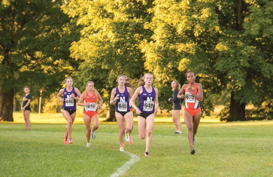 Several+Wildcats+run+on+a+course.+Northwestern+competed+well%2C+coach+%E2%80%98A+Havahla+Haynes+said%2C+at+the+Bryan+Clay+Invitational.