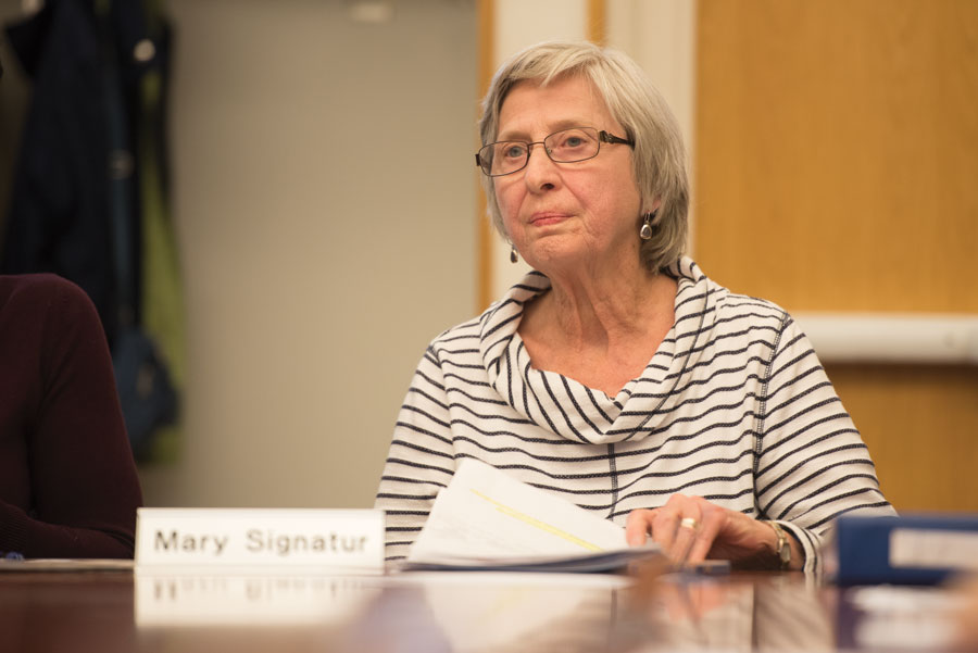 Mary+Signatur%2C+chair+of+the+Commission+on+Aging.+Commission+members+expressed+concerns+Thursday+over+affordable+housing+in+Evanston.