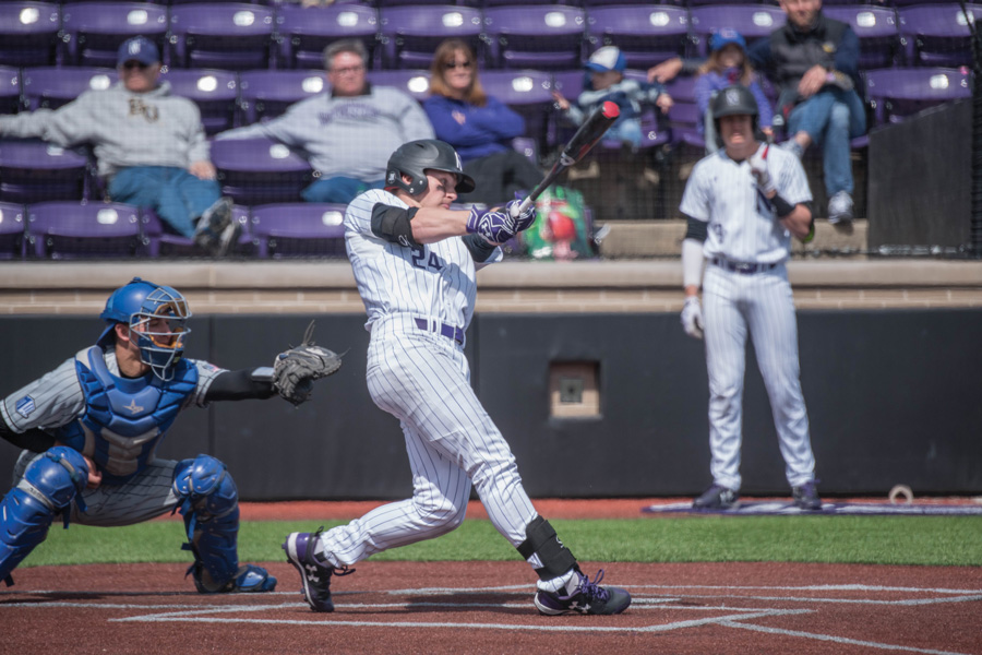Willie Bourbon swings through a pitch. The sophomore infielder and the Wildcats are seeking a rebound against Purdue this weekend.