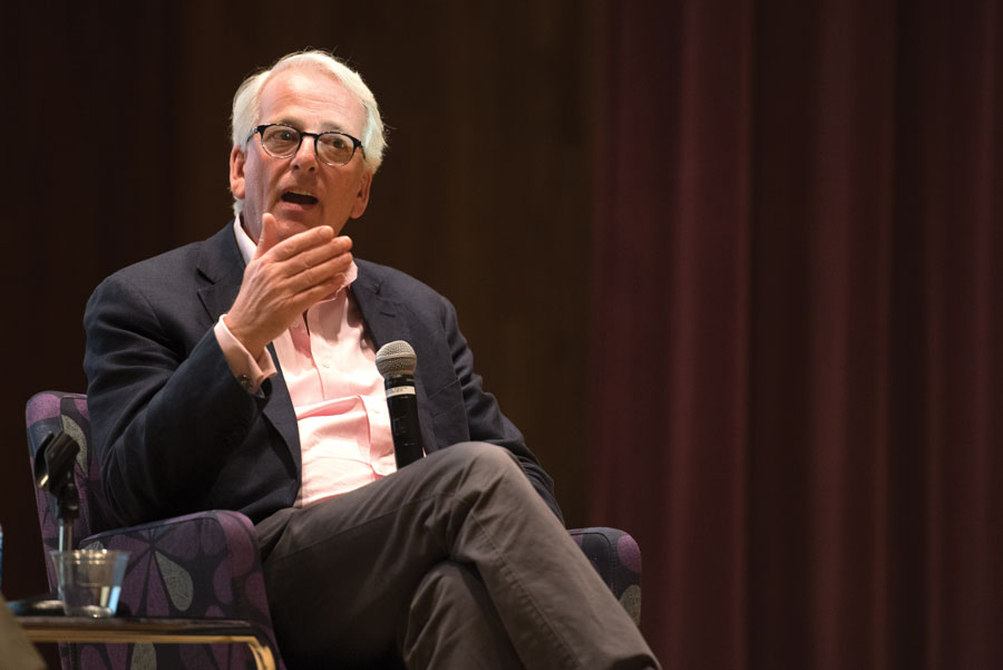 Ivo Daalder, former U.S. ambassador to the NATO, during an event in McCormick Auditorium on Friday. Daalder discussed NATO's return to its original mission of dealing with the threat of Russia.