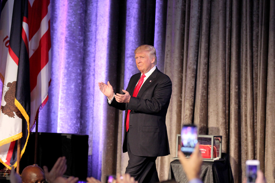 President+Donald+Trump+at+an+event+celebrating+his+victory+last+year.+Three+Illinois+gubernatorial+candidates+have+called+for+Trump+to+be+impeached.