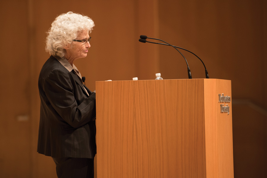 Visiting Prof. Ruth Gavison speaks in Pick-Staiger Concert Hall on Thursday. Gavison lectured about the Jewish and democratic aspects of Israel.