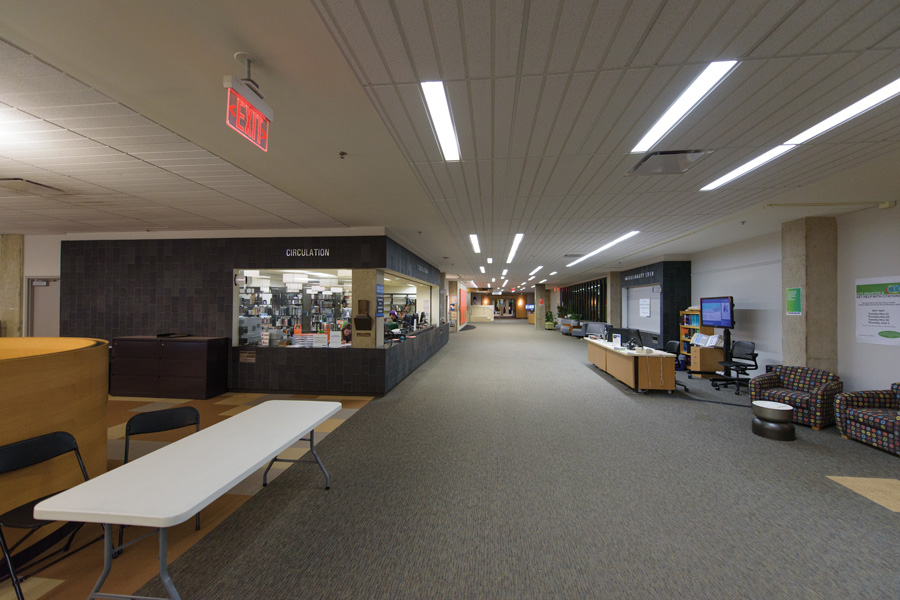 The circulation desk in Main Library on Northwestern's campus. NU Libraries recently announced a new archivist position to document the lives of black students, faculty and alumni.