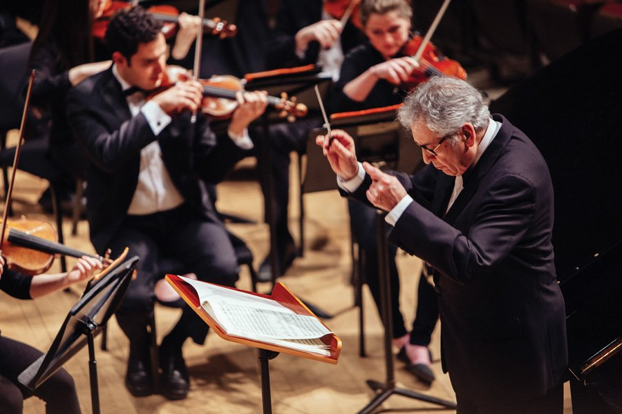 Bienen Prof. Victor Yampolsky conducts the Northwestern University Symphony Orchestra on Friday. The concert was part of the annual American Liszt Society Festival, which Northwestern hosted for the first time this year.