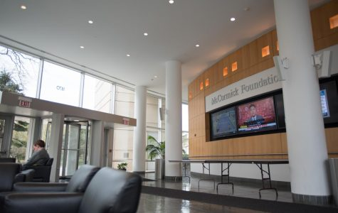 The McCormick Foundation Center lobby. The Medill School of Journalism will no longer be reviewed by the Accrediting Council on Education in Journalism and Mass Communications.
