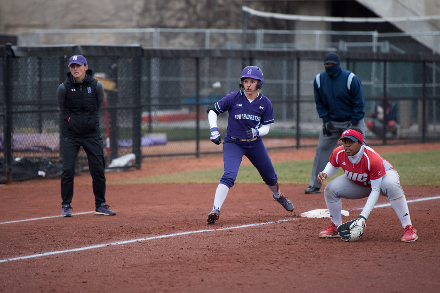 Marissa+Panko+looks+to+make+a+dash+for+home+plate.+The+junior+centerfielder+was+among+three+NU+players+who+received+All-Big+Ten+honors+this+week.