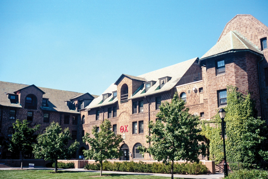 Theta Chi is located on the fourth floor of Lindgren House. Theta Chi's international headquarters placed the Northwestern chapter under suspension after the group expressed interest in disbanding.