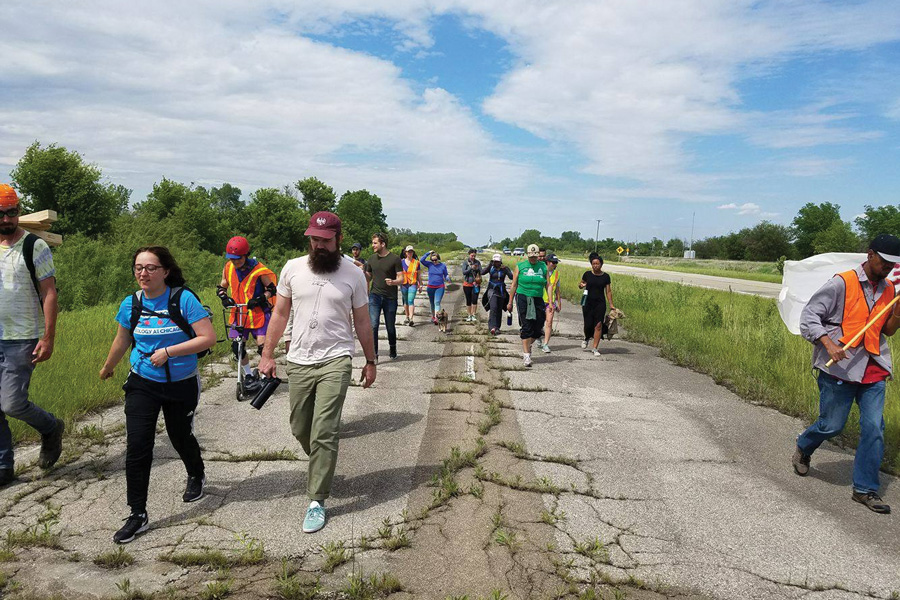 Activists march to Springfield from Chicago. The group is advocating for a progressive budget plan and to raise awareness about the ongoing stalemate.