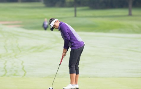 Stephanie Lau prepares for her putt. The sophomore and the Wildcats begin the National Championships on Friday.