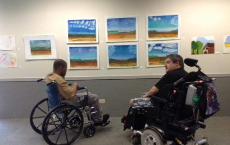 Nonprofit organization showcases artwork of residents with physical disabilities at gallery opening