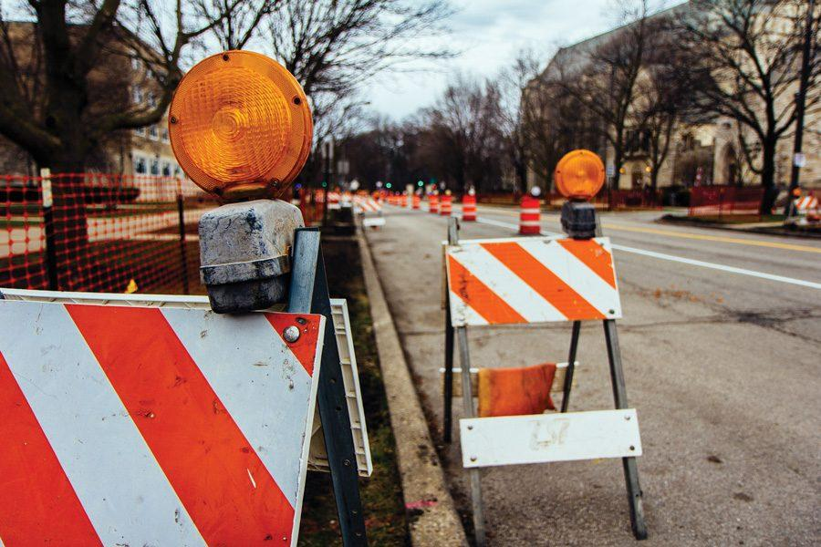 Construction on Sheridan Road. The $13.3 million Sheridan Road-Chicago Avenue Project could be affected by the ongoing Illinois budget impasse, which lawmakers failed to end Wednesday.