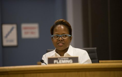 Ald. Cicely Fleming. Fleming expressed her opposition of the adoption of the resolution to settle Shannon Lamaster v. City of Evanston et al.