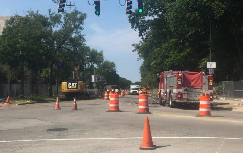 Sheridan Road closed, Scott Hall evacuated due to gas main breach