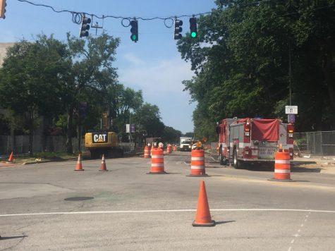 Sheridan Road closed, Scott Hall evacuated due to gas main breach