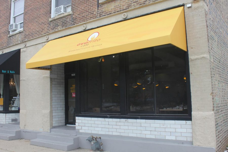 Ovo+Frito+Cafe+is+located+in+a+relatively+nondescript+storefront+on+Maple+Avenue.+The+cafe+opened+last+month%2C+hoping+to+expand+Evanston%27s+brunch+options.