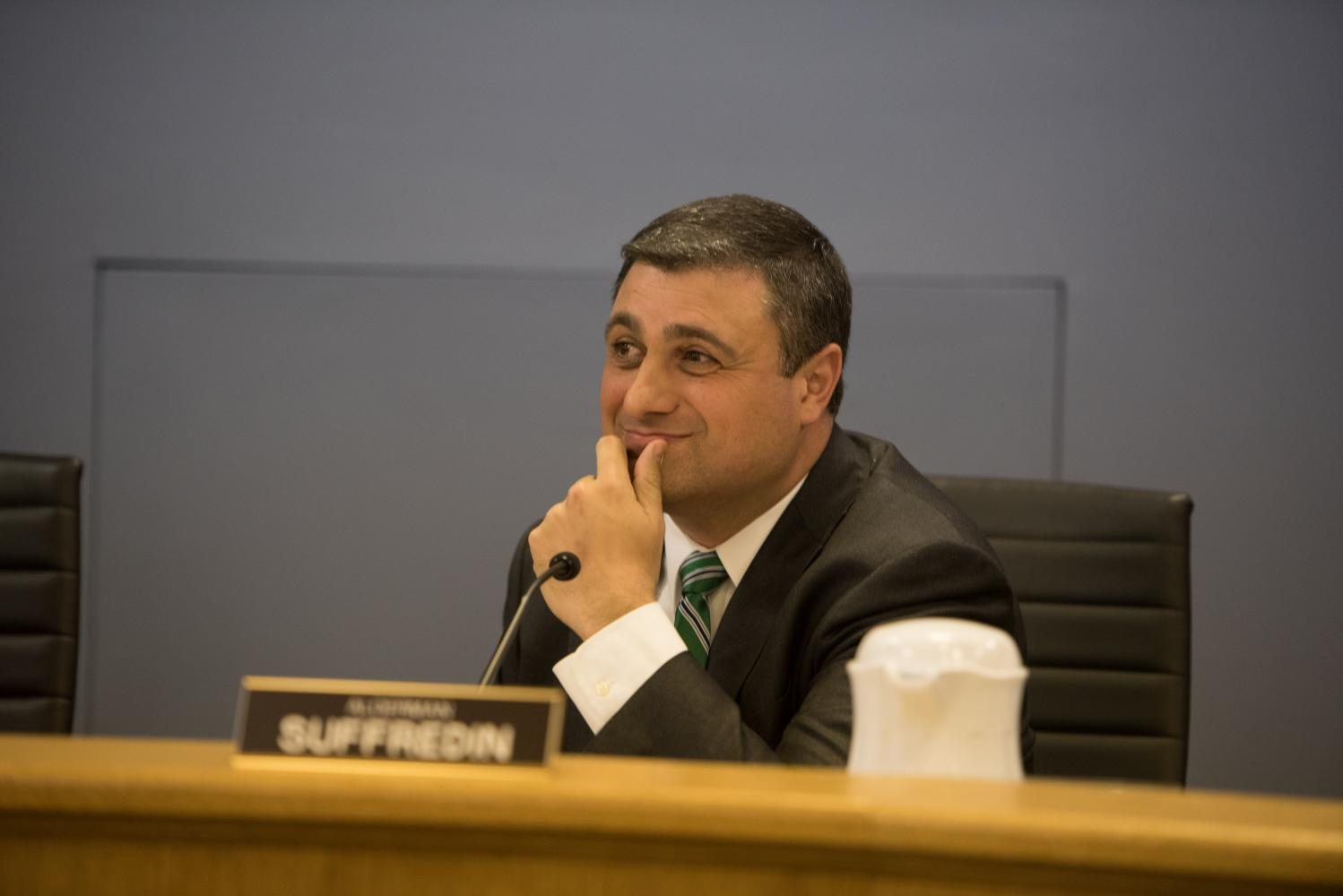 Ald. Tom Suffredin (6th). Suffredin was the only city council member to oppose the security contract extension, citing concerns about a lack of support for individuals experiencing homelessness.