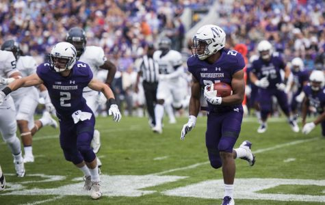 Justin Jackson carries the ball. The senior ran for 18 yards against Duke, the smallest single-game output of his career.