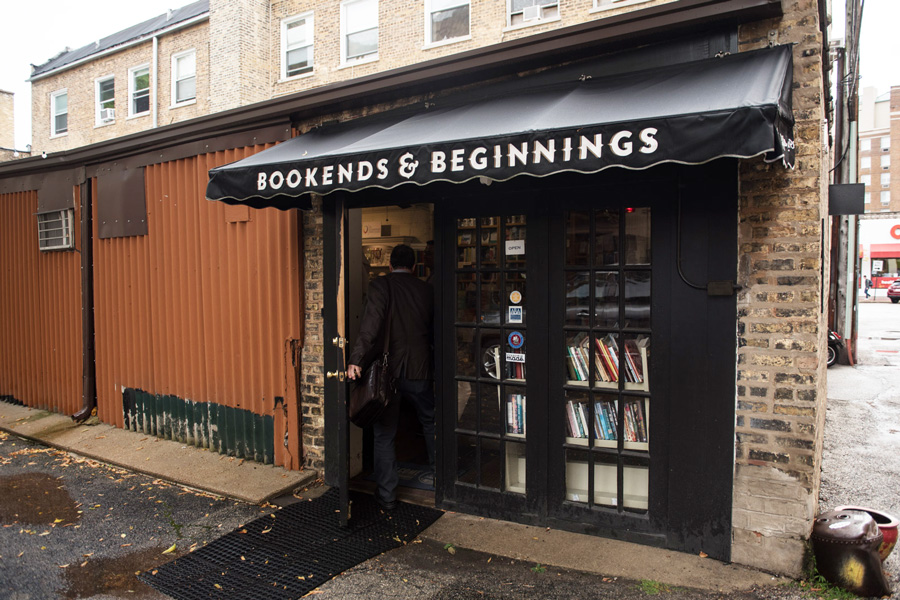 Bookends+and+Beginnings%2C+1712+Sherman+Ave.+The+bookstore+is+one+of+several+Evanston+businesses+that+could+close+if+a+proposed+high-rise+complex+is+approved.