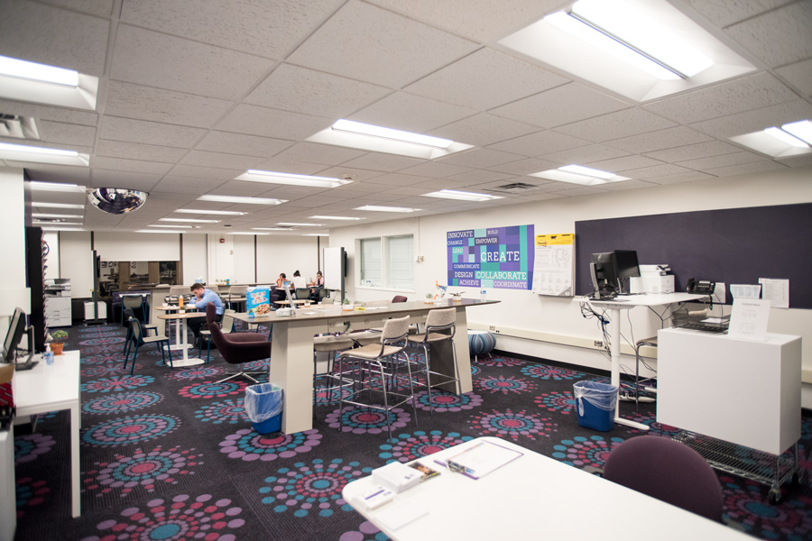 SOURCE in Norris University Center. Student groups can access a large format printer to create promotional banners by the end of Fall Quarter, said Joe Lattal, assistant director of Student Organizations & Activities.