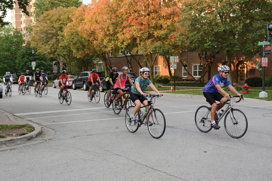 Cyclists+ride+through+Evanston+for+Over+the+Rainbow%E2%80%99s+10th+Annual+Challenge+Tour.+OTR+raised+%24150%2C000+at+the+Sunday+event.+