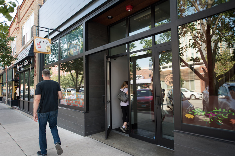 The outside of 1026 Davis St. Spenga, a workout franchise, is in the permitting process of opening a studio in the building.