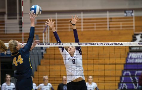 Volleyball: Northwestern drops home opener to Illinois