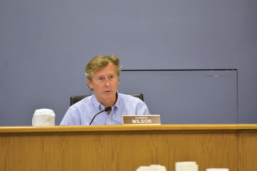 """Ald. Donald Wilson (4th) speaks at the Oct. 9 City Council meeting. Wilson said at Monday's special meeting that rules regulating capacity and the renting of accessory dwelling units prevent the creation of a """"safe space."""""""