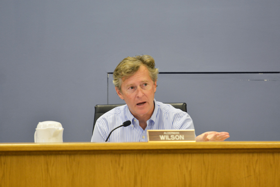 Ald. Donald Wilson (4th) speaks at the Oct. 9 City Council meeting. Wilson and Ald. Eleanor Revelle (7th) shared the community's initial concerns regarding the proposed 2018 budget.