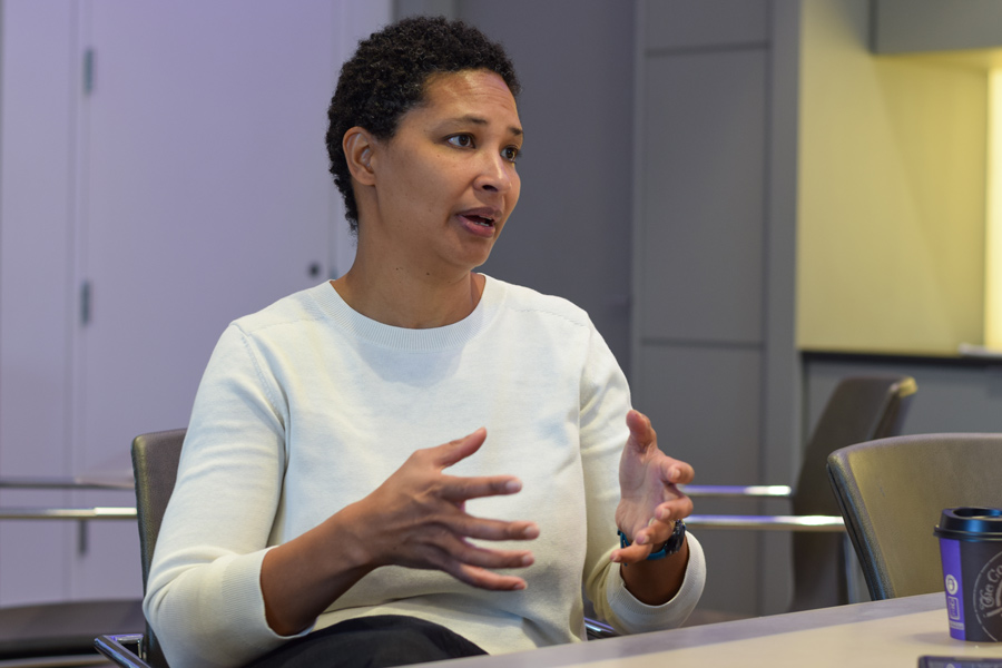 "Danielle Allen discusses her inspiration for writing ""Our Declaration."" Allen delivered the One Book One Northwestern keynote address Thursday, speaking about the modern relevance of the Declaration of Independence."